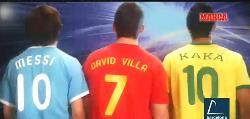 Consigue con Adidas y Marca la camiseta de Kaká, Messi y Villa